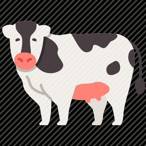agriculture, animal, cow, farming, gardening, milk icon