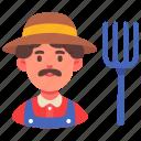 agriculture, career, farmer, farming, gardening, male, man icon