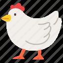 agriculture, animal, chicken, farming, gardening, hen icon