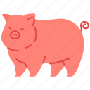 agriculture, animal, farming, gardening, pig, pork icon