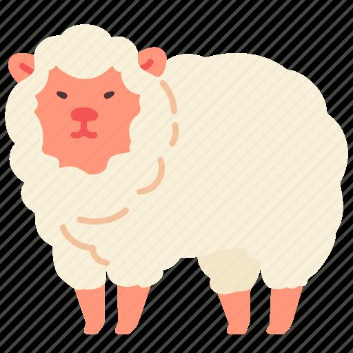 agriculture, animal, farm, farming, gardening, sheep icon