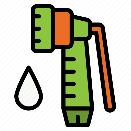 garden, gardening, hose, spray, water, watering icon