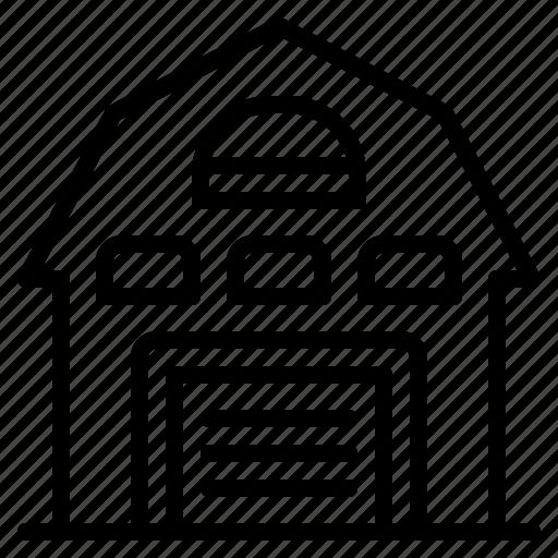 architecture, barn, building, construction, house, villa icon