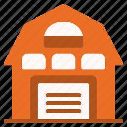 barn, equipment, garden, gardening, house, tool icon