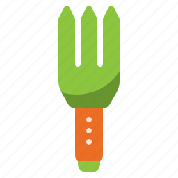 equipment, fork, garden, gardening, hand, tool icon