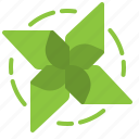 eco, ecology, green, pinwheel, wind icon
