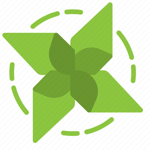eco, ecology, green, pinwheel, wind icon