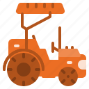 barn, building, house, tractor, transportation icon
