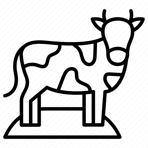 Cow, animal, farm, farming, milk, mammal, animals icon - Download on Iconfinder
