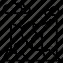 mountains, mountain, landscape, rock, clouds, land, surface
