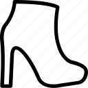 boots, fashion, footwear, shoes, woman shoes icon