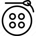 button, crafting, needle, sewing, tailoring icon