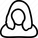 blonde, female, lady, modern, woman icon