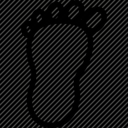 body part, foot, footprint, organ, walk icon