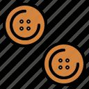 buttons, circular, clothes, fashion icon