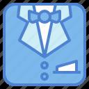 men, suit, fashion, uniform icon