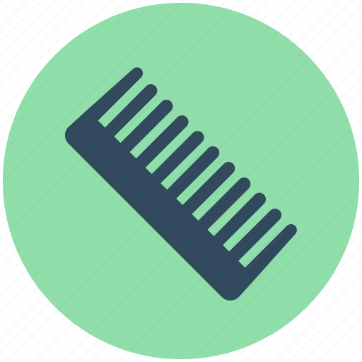 comb, hair comb, hair salon, hair styling, straight comb icon