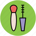 cosmetics, makeup accessories, makeup brush, mascara icon
