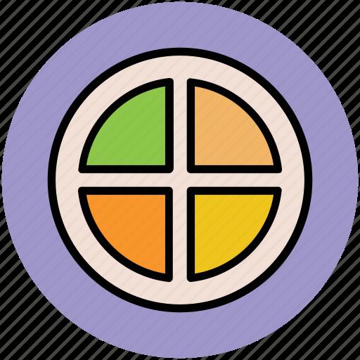 diet, food, fruit, lemon slice, orange slice icon