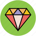 crystal stone, diamond, gem, jewel, precious stone icon