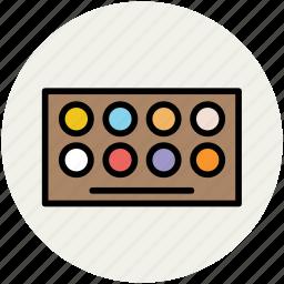 cosmetics, eye-shadows, eyeshadow kit, makeup, makeup kit icon