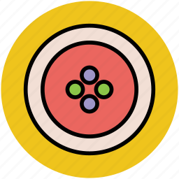 button, clothes button, round button, sewing, shirt button icon