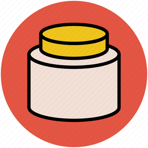 beauty care, beauty product, cosmetics, cream jar, makeup, personal care icon