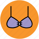bra, brassiere, underclothes, undergarments, women wear icon