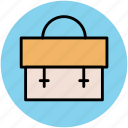 bag, bookbag, briefcase, documents bag, school bag icon