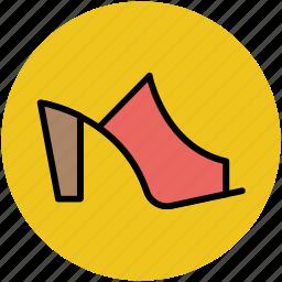 footwear, heel sandal, heel shoes, high heel sandal, woman heels, woman shoes icon