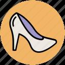 fashion, heel shoes, high heel, pumps heel, woman shoes, women footwear icon