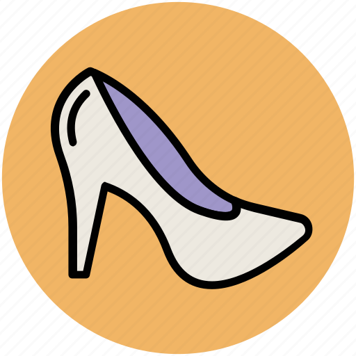 fashion, heel shoes, high heel, pumps heel, woman shoes, women footwear icon