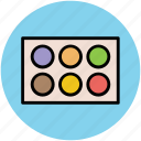 cosmetics, eye-shadows, eyeshadow kit, makeup, makeup kit icon