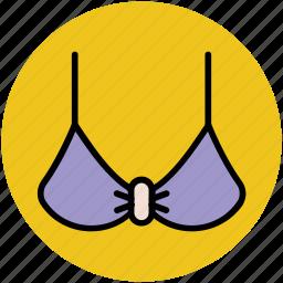 bra, brassiere, underclothes, undergarments, women wear icon