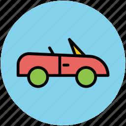 automobile, car, sports car, transport, vehicle icon