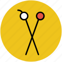crafting, knitting, knitting needle, knitting pins, sewing icon