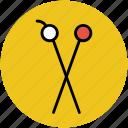 crafting, knitting, knitting needle, knitting pins, sewing icon