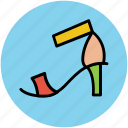 footwear, heel sandal, party shoes, woman sandal, woman shoes icon