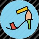 footwear, heel sandal, party shoes, woman sandal, woman shoes icon