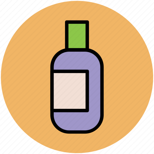 bottle, cosmetics, hair oil, makeup, oil bottle, shampoo icon