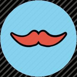 facial hair, handlebar moustache, hipster, moustache, mustachio icon