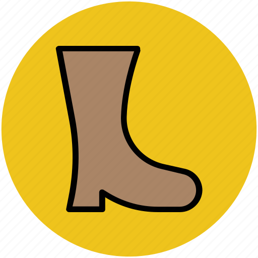 ankle boot, boot, footwear, long boot, woman shoes icon
