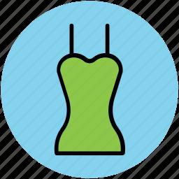 clothing, fashion, woman blouse, woman dress, woman garments icon