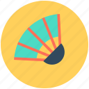 chinese fan, fan, flamenco fan, hand fan, japanese fan icon