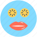 beauty care, face mask, feminine, lips, personal care icon
