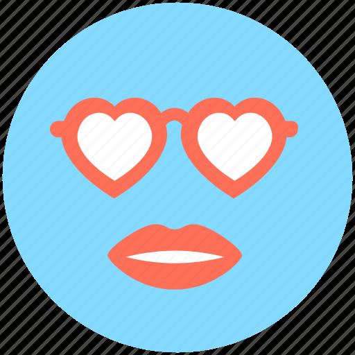 fashion, heart glasses, lips, woman, woman style icon