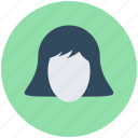 avatar, hairstyle, woman avatar, woman face, woman head icon