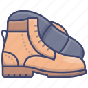 boots, footwear, men, shoes icon