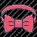 bow, bowtie, necktie, tie icon