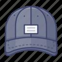 baseball, cap, fashion, hat icon